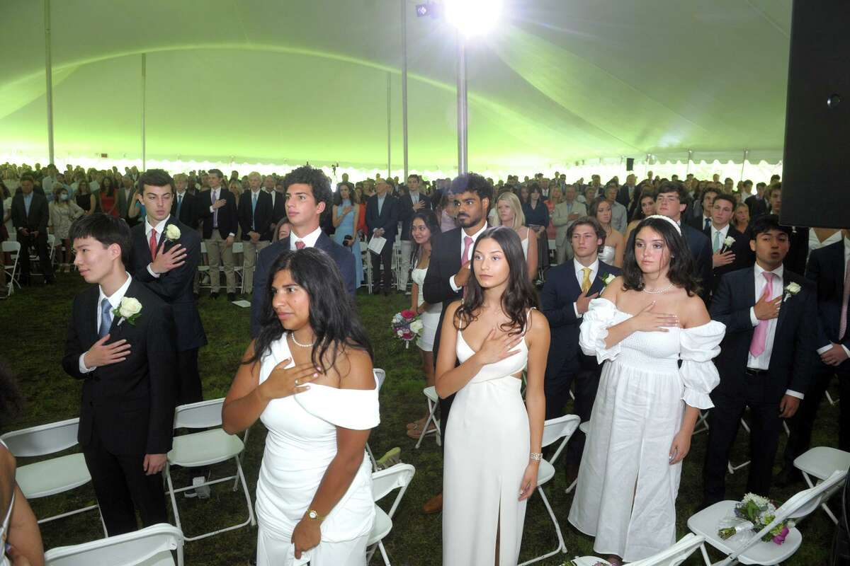Class of 2021 begins at Greens Farms Academy, Westport, Connecticut, June 10, 2021.