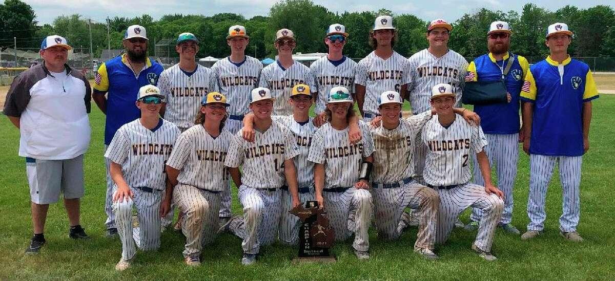 Evart's baseball team celebrated the regional championship on Saturday. (Courtesy photo)
