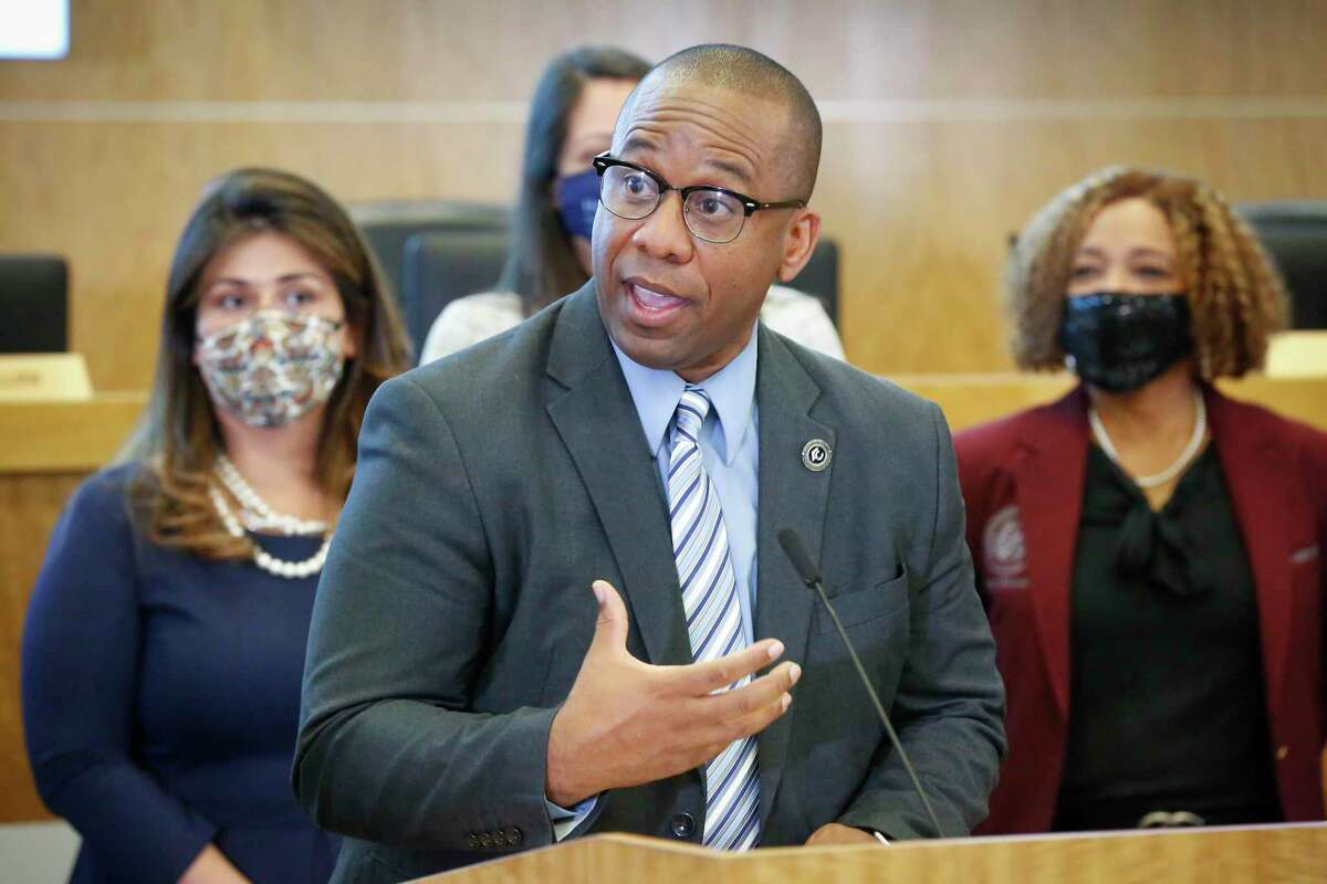 Millard House II, pictured in May, will become Houston ISD's superintendent on July 1, after school board members unanimously voted Monday to install him as the district's leader.