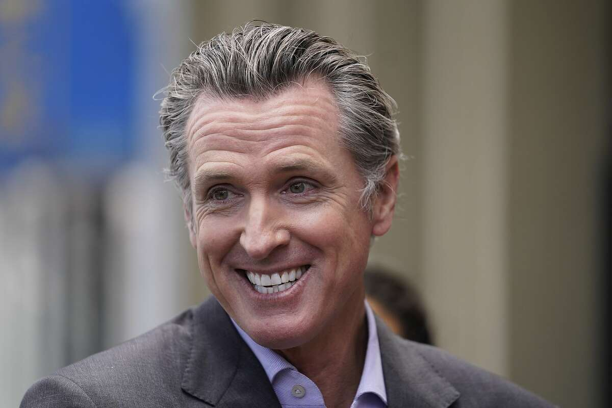 Gov. Gavin Newsom during a news conference in San Francisco on June 3, 2021.