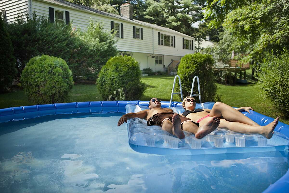 Pictured: Stock image of a pool on a summer day. Pool sharing platforms like Swimply and Swimmy operate like Airbnb, connecting guests to hosts who are offering their pools up for rent. Swimplyand Swimmy charge guests an hourly rate to reserve a pool, and guests can reserve a pool for a few hours or for an entire day.