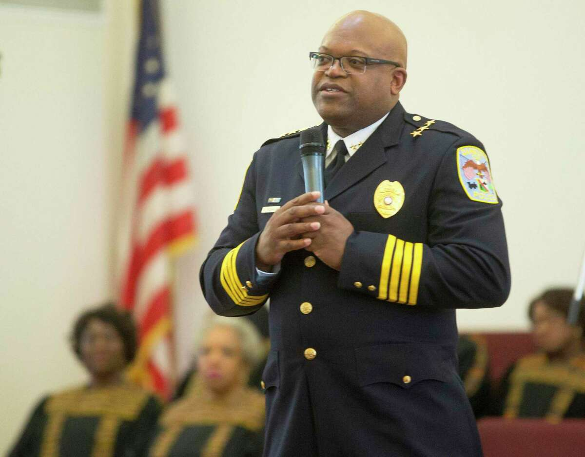 Danbury Police Chief Patrick Ridenhour was an honoree at the third annual Standing on the Shoulders of Giants Black History Month program at New Hope Baptist Church in Danbury, Conn. on Sunday, March 26, 2017.
