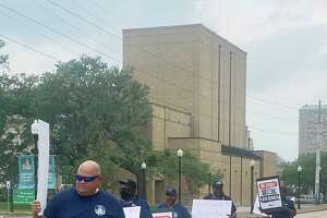 After more than six months of negotiating with Beaumont's new transit provider, the workers' union is speaking out.      About a dozen members of the Amalgamated Transit Union from Beaumont, Dallas, Austin and San Antonio turned out on Tuesday in front of City Hall in an effort to inform city officials, council members and residents of their plight.