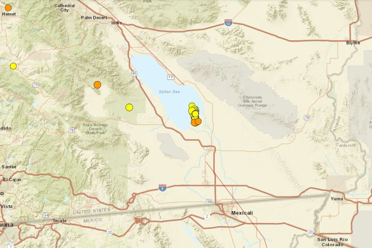 Earthquakes rattled the region around Southern California's Salton Sea in recent days.