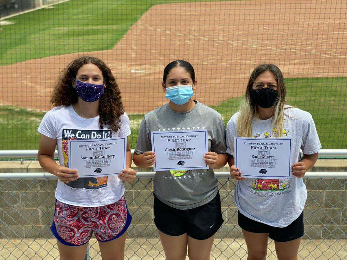 The Paetow softball team placed three players on the All-District 19-5A team, with Samantha Guillory, Alexis Rodriguez and Sade Guerra making the top group.