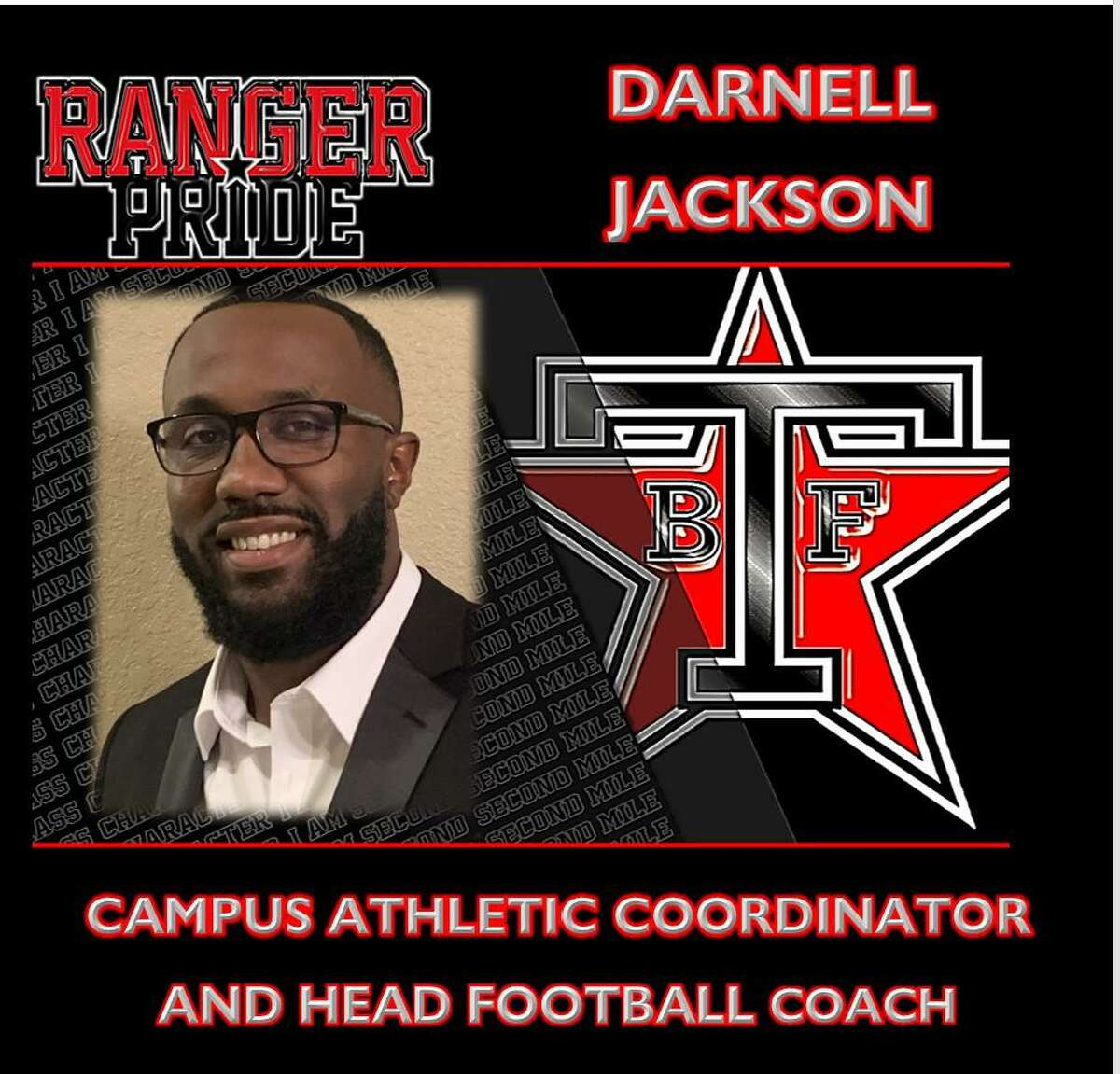 Terry High School graduate Darnell Jackson was promoted from offensive coordinator to Rangers head football coach. Jackson was an all-state receiver at Terry before joining the coaching staff in 2014.