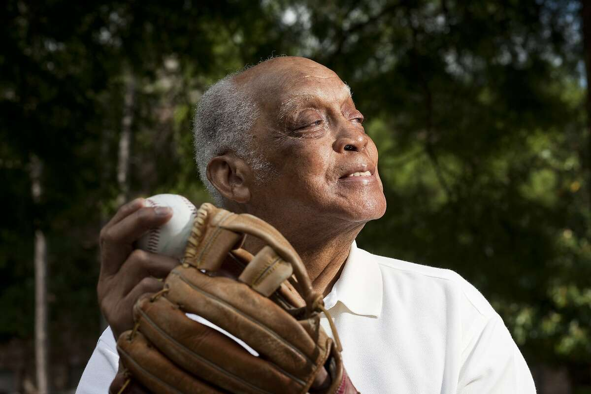 Monte Irvin, 91, a Baseball Hall of Fame baseball player who broke into pro baseball with the Newark Eagles of the Negro Leagues talks about road trips and playing baseball in the 40's and 50's Thursday, April 29, 2010, in Houston. ( Nick de la Torre / Chronicle )