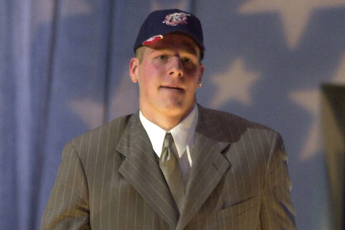 Minnesota center Joel Przybilla briefly wore a Rockets cap after being drafted ninth overall in 2000 before his rights were traded to Milwaukee. A series of moves saw the Rockets end up with Eddie Griffin a year later.