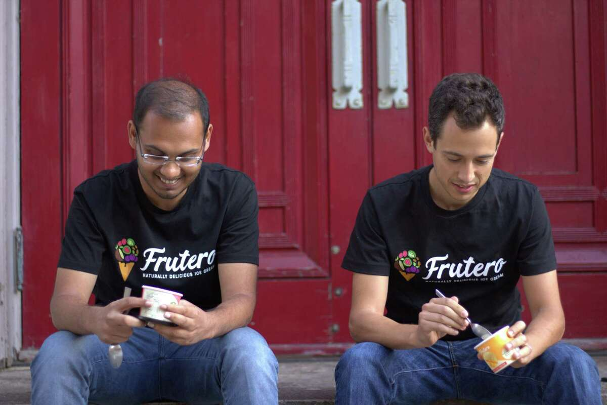 Mike Weber, right, a Stamford native, co-founded Frutero, an ice cream company, with Vedant Saboo.