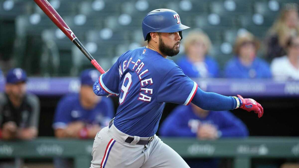 Rangers shortstop Isiah Kiner-Falefa brings an 11-game hitting streak into this series with the Astros.