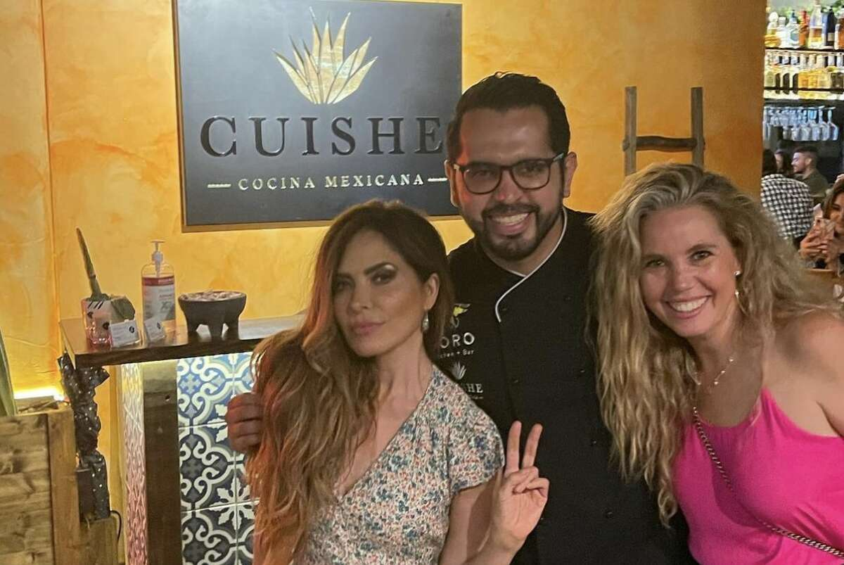 Cuishe executive chef Juan Carlos Bazan shared a photo of himself with Gloria Trevi on Instagram on Sunday. He says Trevi stopped in over the weekend, but it's nothing out of the norm.