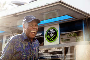 """We stopped by Vegan Mob's San Francisco location in the Mission where Danny Glover was filmed in commercial """"Lethal Vegan pt. 2"""" with proprietor Toriano Gordon."""