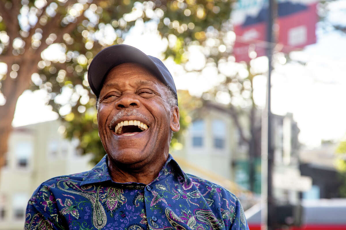 """Danny Glover takes a moment for a few photos after he filmed the commercial """"Lethal Vegan Pt. 2."""""""