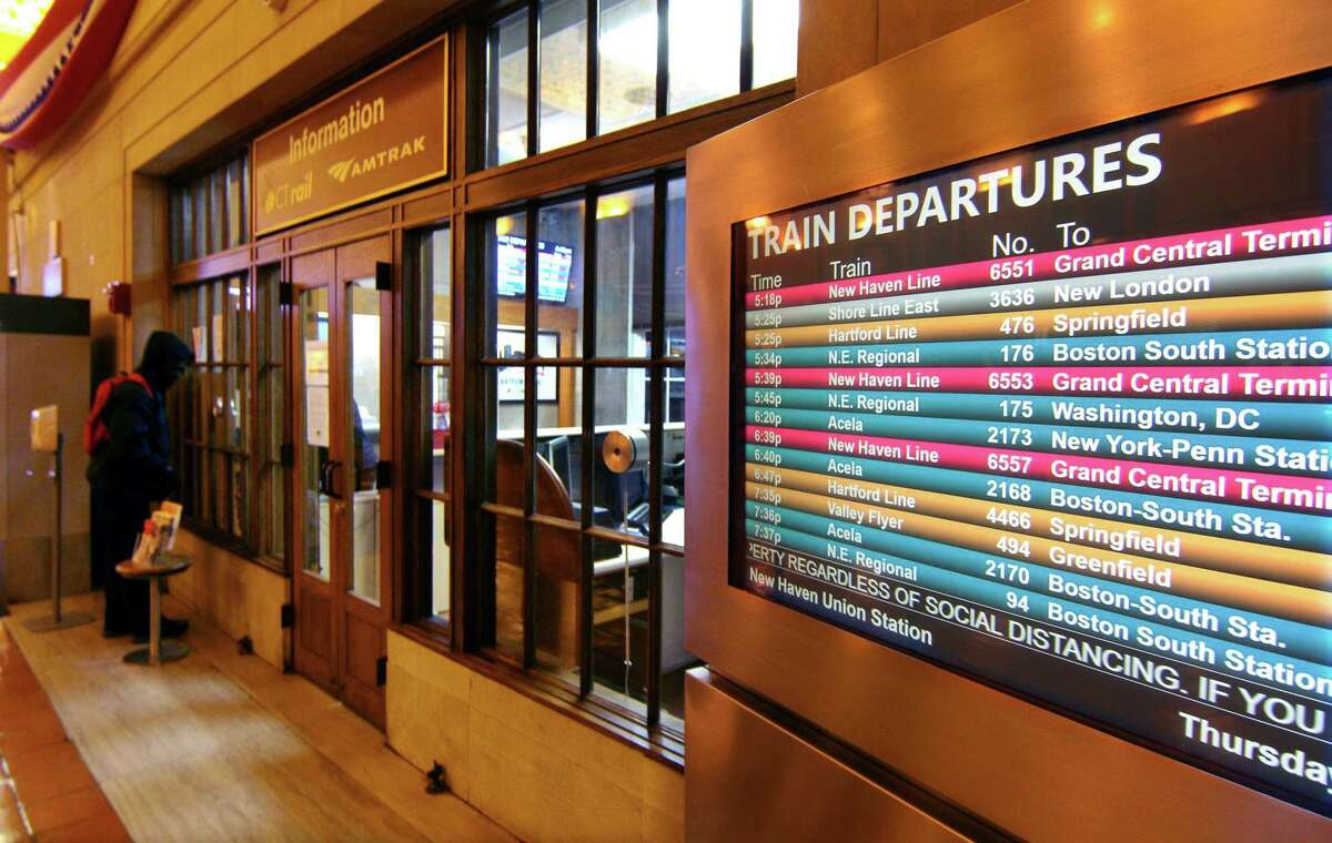Views of Union Station in New Haven, Conn., on Thursday Nov. 19, '20.