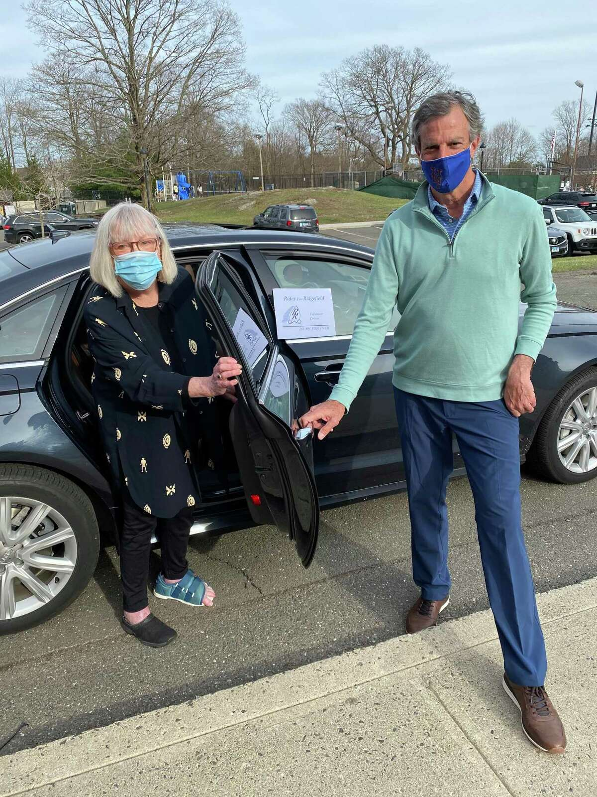 Deborah Szwarce received a ride from volunteer driver Jeff Goetz to get to her COVID-19 vaccine appointment at the now defunct Yanity Gym clinic. Goetz was one of four volunteers who chauffeured non-vaccinated riders to their vaccination appointments earlier this spring.