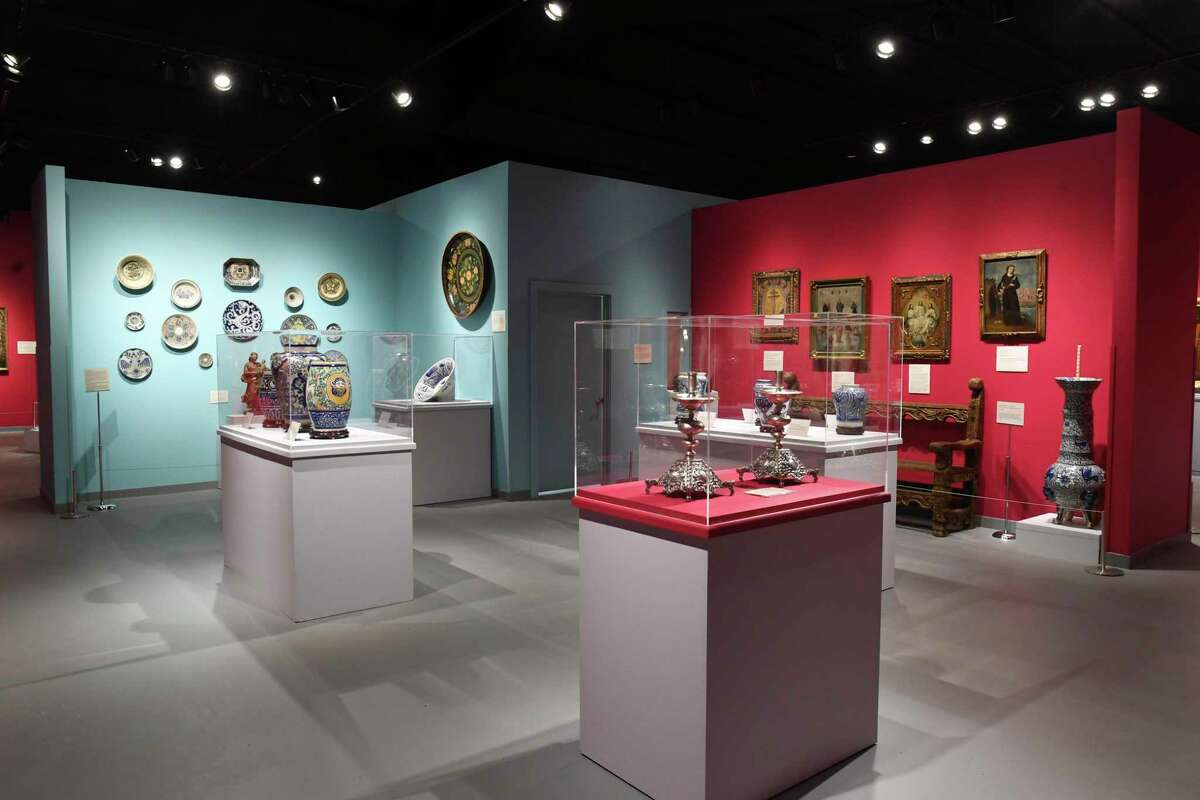 Items in the New Spain exhibit at the Bandera Natural History Museum were donated by Juan Carlos Infante and his wife, Mary Vargas Infante.