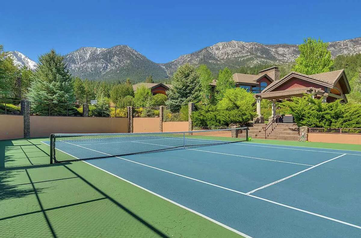 """The owner is a former pro and still an """"avid"""" tennis player.Thus the tennis court, and additional sports court, with viewing pavilion."""