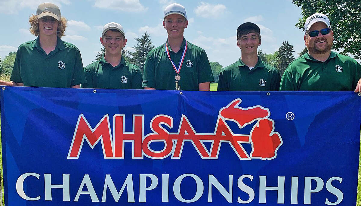 Laker's Hunter Krohn finished sixth overall and the Laker team placed 12th at the MHSAA Division 4 boys golf finals at The Fortress in Frankenmuth on Saturday. Cass City's Ryan Pisarek finished eighth. (Contributed/Laker Schools)