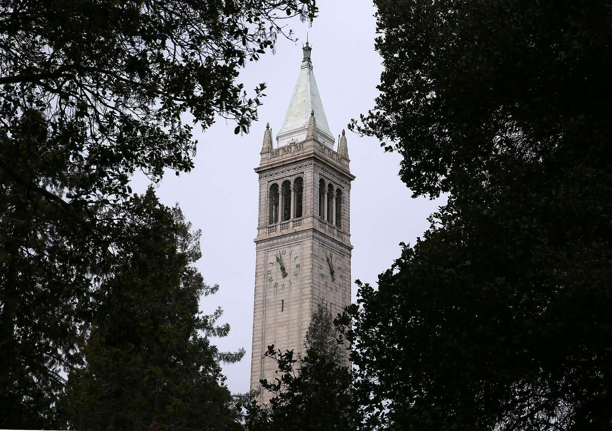 Sather Tower on the UC Berkeley campus. In an about-face, the University of California will require all students, staff and faculty to be vaccinated against the coronavirus this fall, even though the U.S. Food and Drug Administration has approved the vaccines only for emergency use.