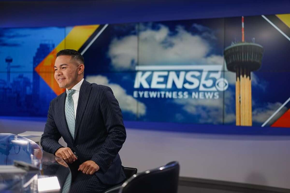 Henry Ramos at the anchor desk