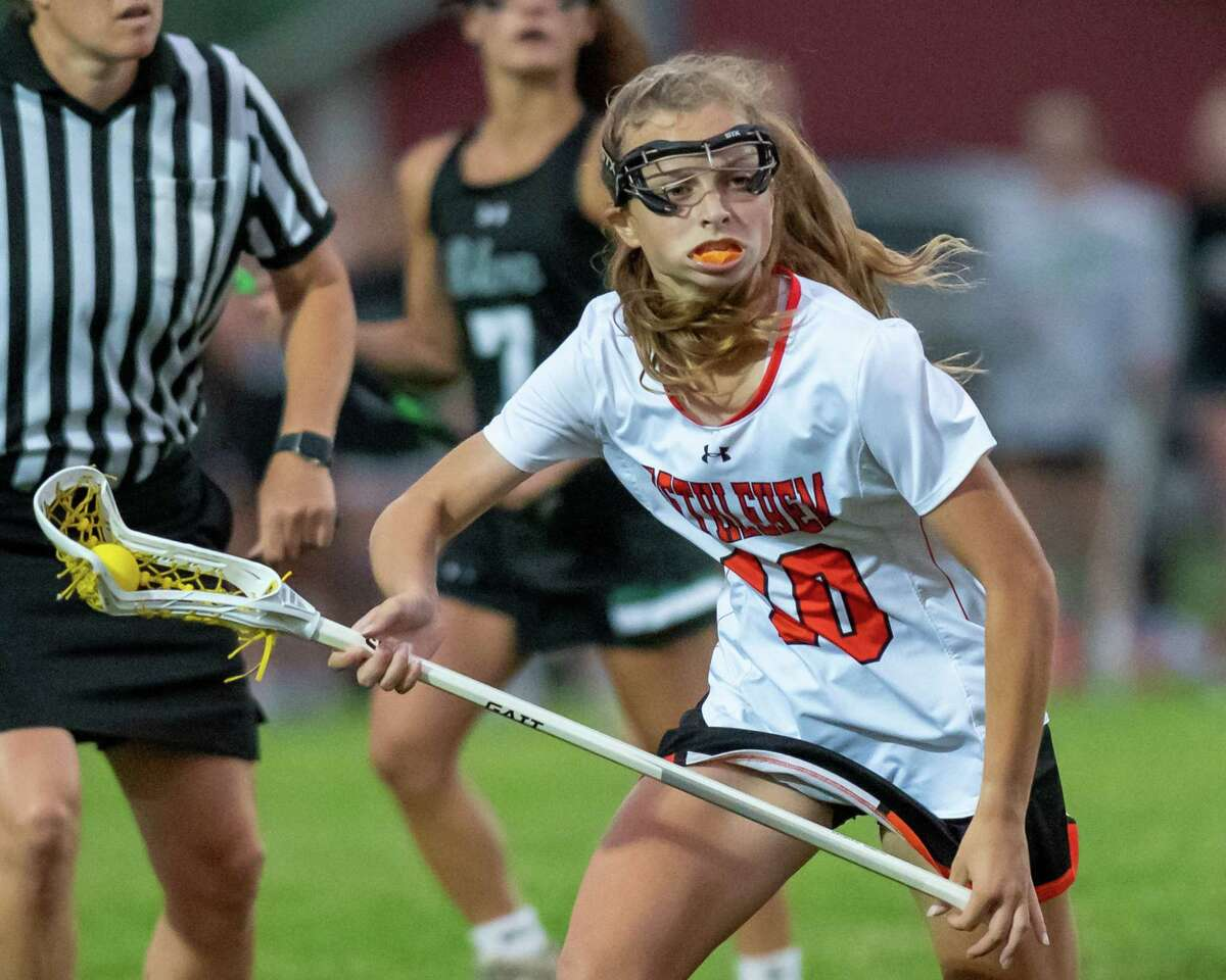 Bethlehem midfielder Caroline Marotta against Shenendehowa during the Class A girls lacrosse finals at Bethlehem High School in Delmar, NY, on Monday, June 14, 2021 (Jim Franco/Special to the Times Union)