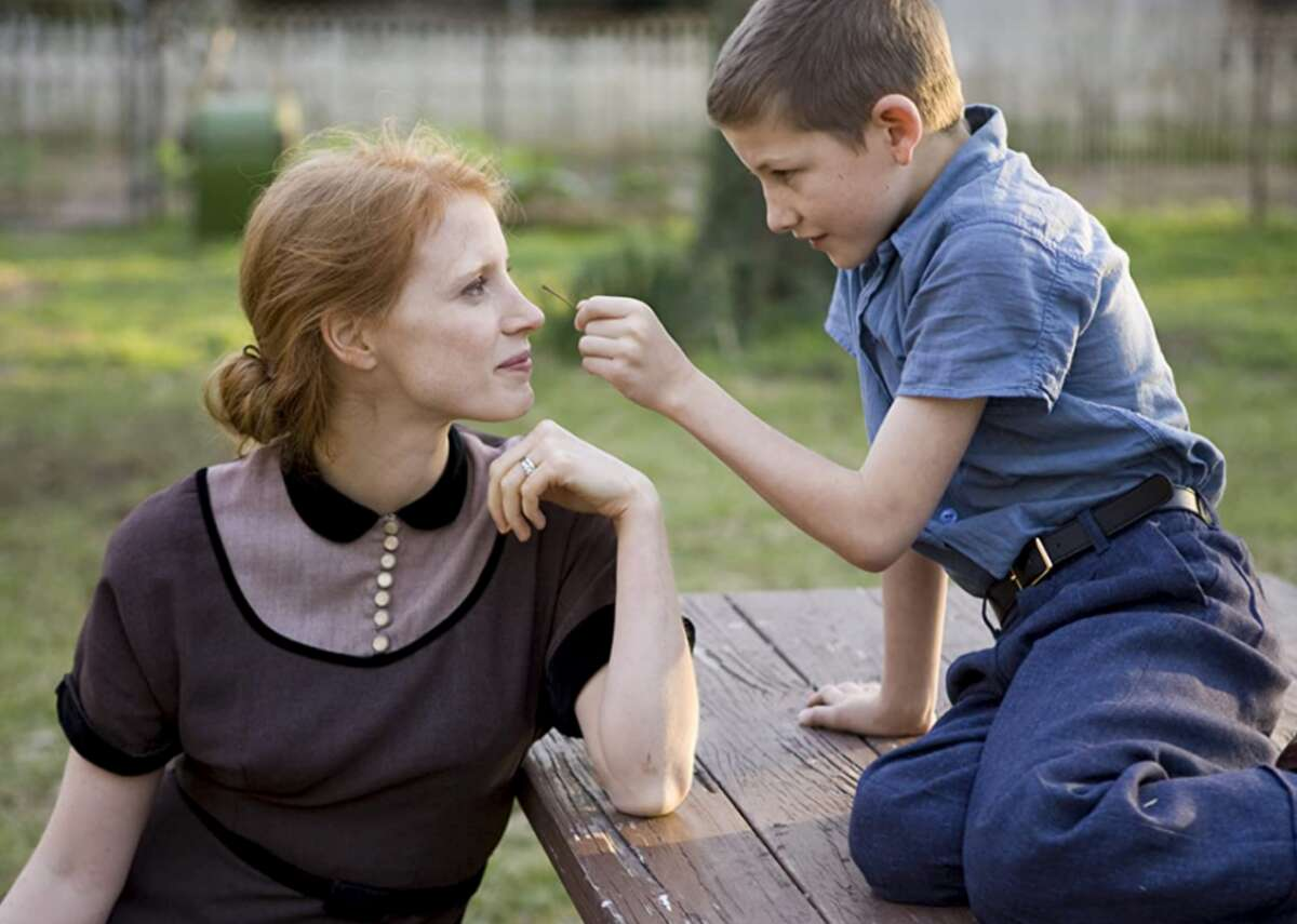 """#25. Mrs. O'Brien in 'The Tree of Life' (2011) - Director: Terrence Malick - IMDb user rating: 6.8 - Metascore: 85 - Runtime: 139 minutes Awarded the Palme d'Or at the 2011 Cannes Film Festival, """"The Tree of Life""""relays a man's memories of his childhood in Texas while interspersing imagery of the evolution of life and the universe. Jessica Chastain portrays the mother of three boys in the 1950s, and she is both gentle and loving. As Mrs. O'Brien, Chastain is a typical woman of her time and a softer version of her strict husband played by Brad Pitt."""