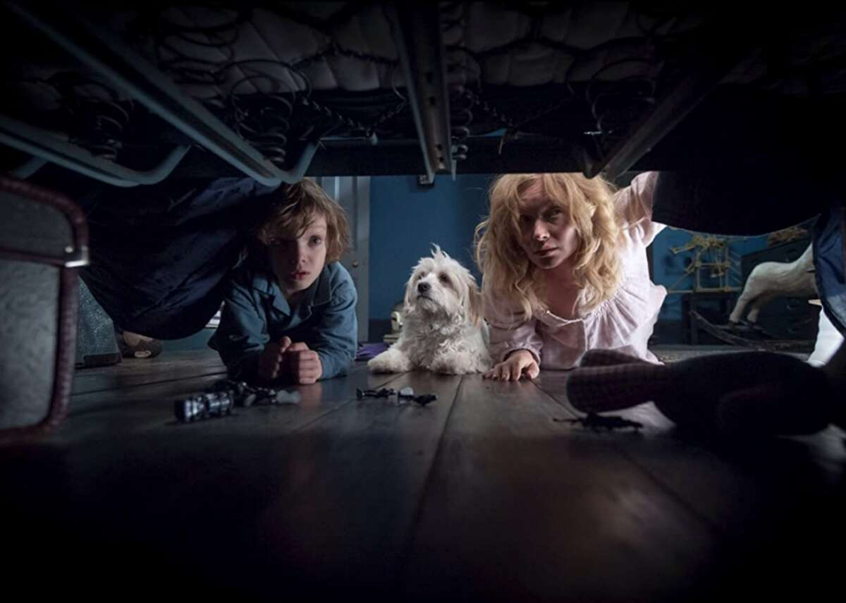 """#24. Amelia Vanek in 'The Babadook' (2014) - Director: Jennifer Kent - IMDb user rating: 6.8 - Metascore: 86 - Runtime: 94 minutes Amelia Vanek has lived in a perpetual state of unrest since her husband's death on the night she gave birth to their son Samuel, who has proven to be a difficult child. When a strange book called """"Mister Babadook""""arrives, it seems to cause unnatural things to happen to Samuel and Amelia. In the film, Amelia is a complicated portrait of a mother trying to raise her child alone, while wading through the muddy waters of grief and depression."""