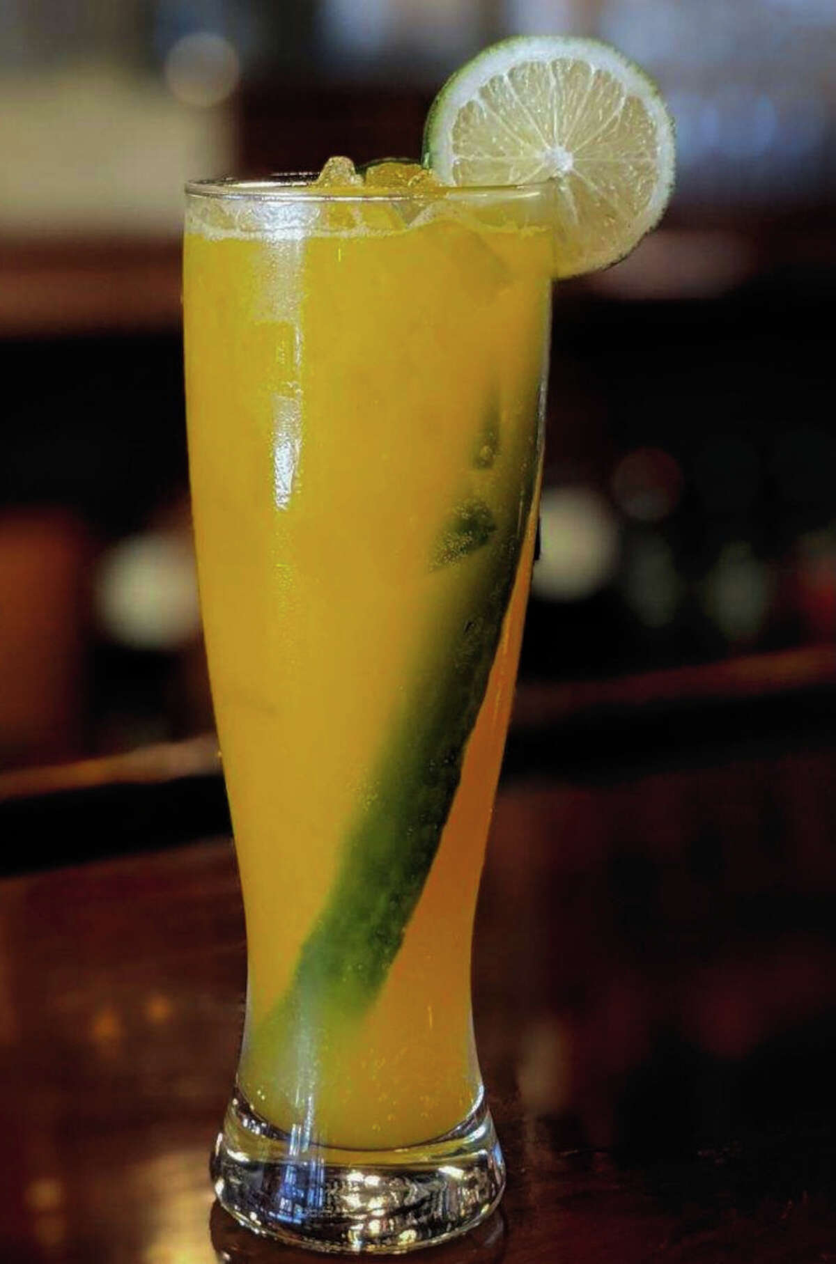 The Mango Mule is among the NA cocktails offered by The Merc in Saratoga Springs. (Provided photo.)