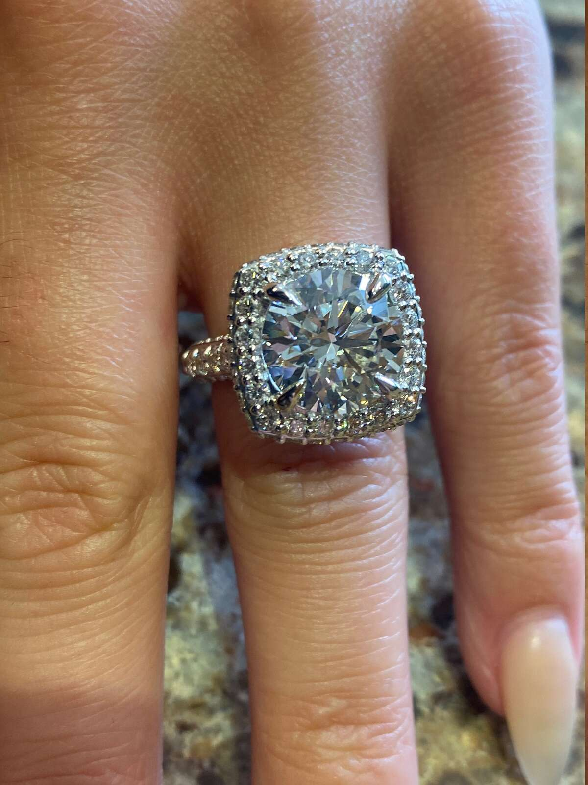 This ring from Hannoush Jewelers is not on the showroom floor, but is stored in a vault.