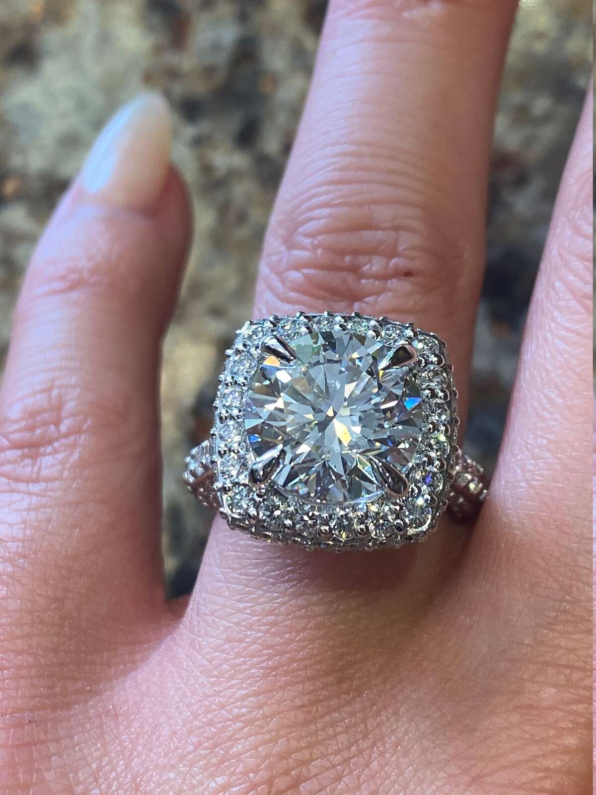 This ring from Hannoush Jewelers in Albany and Clifton Park costs more than $125K. When Albert Hannoush, who designed the ring, posted it to Facebook, he received more 500 reactions.