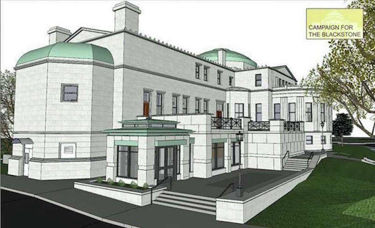 Rendering of how the refurbished Blackstone Library will look once finished.