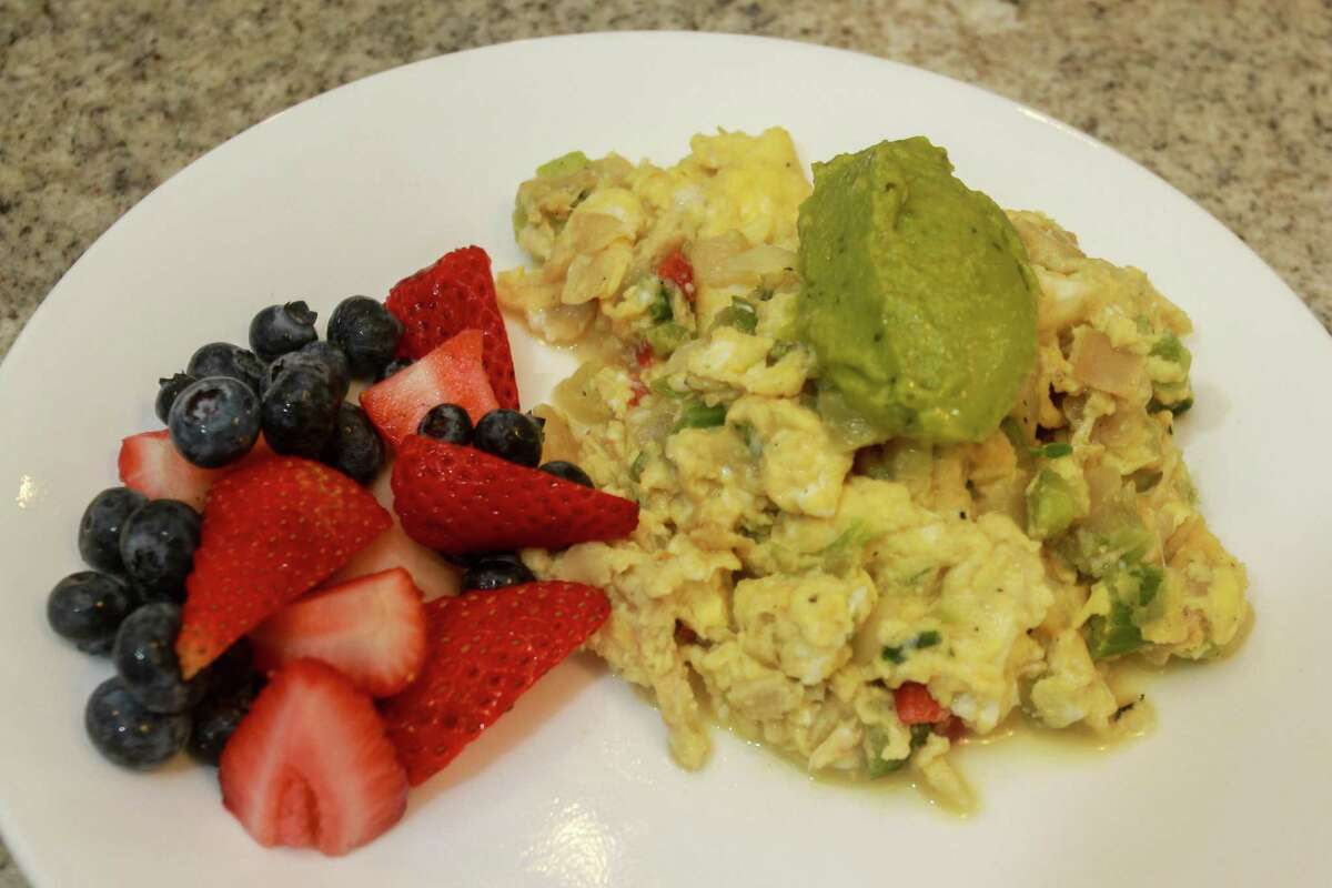 The Veggie Scramble by Moe Schlachter, the founder of Houston Family Nutrition and a former chef, in Houston on May 5, 2021.