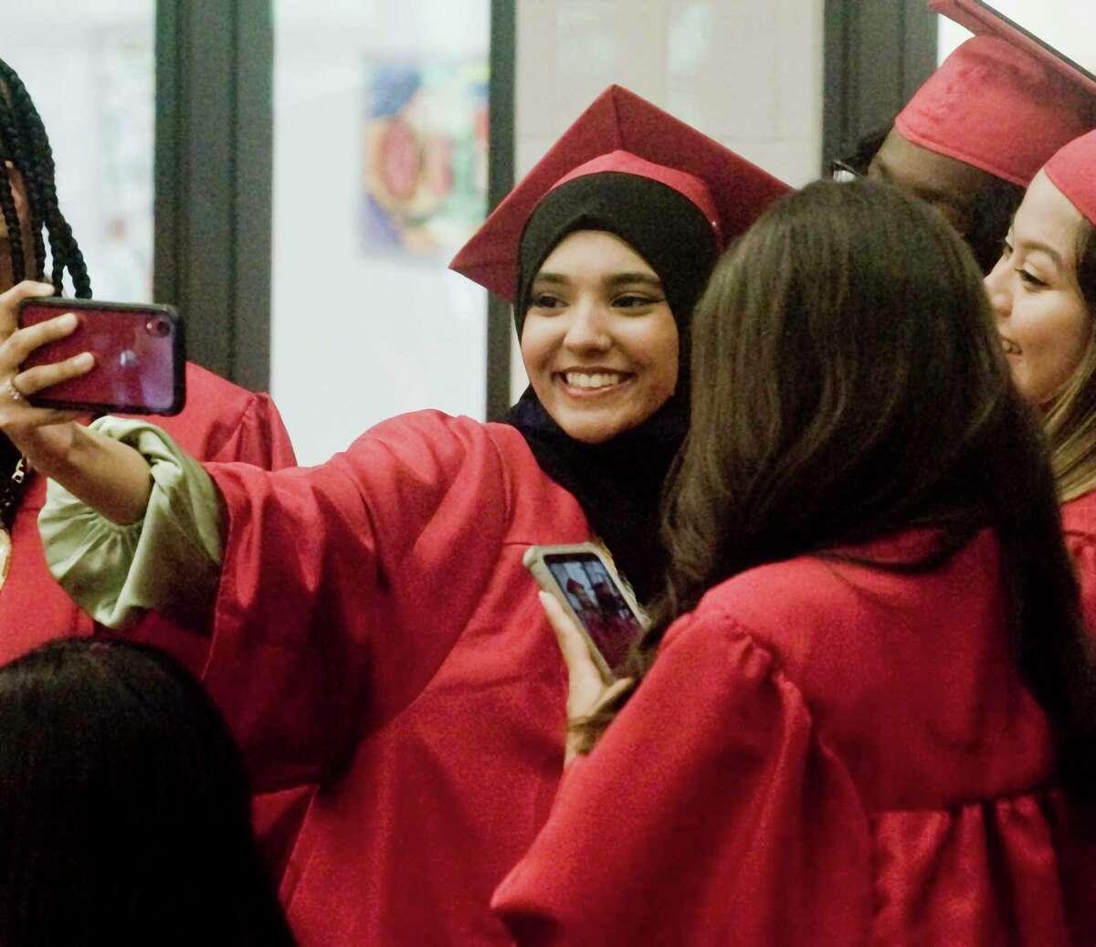 Rezwana Rima captures the group at the JM Wright Technical High School graduation. Monday, June 14, 2021