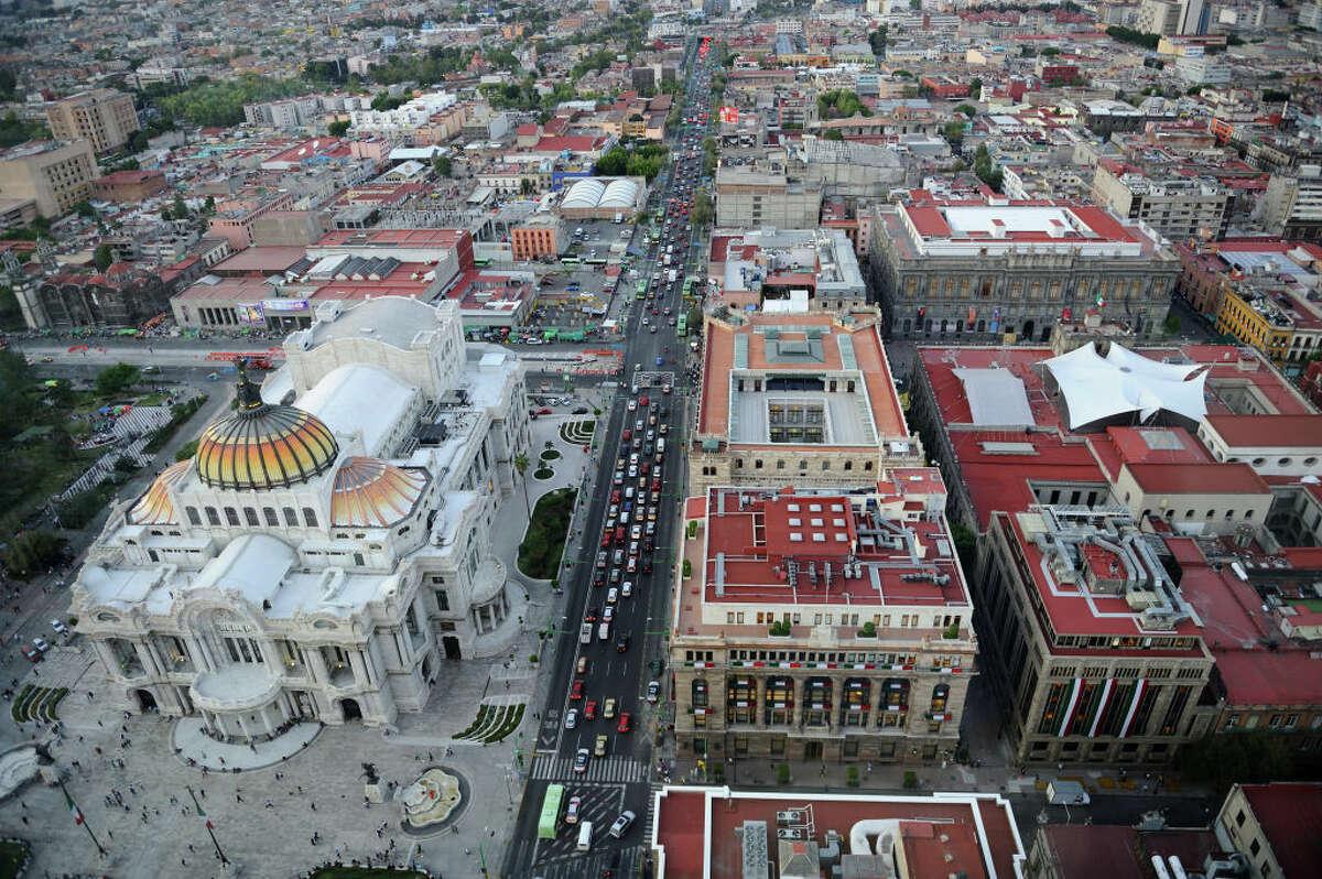 MEXICO, MEXICO CITY - SEPTEMBER 08 : Aerial view of Mexico city on September 08, 2016, Mexico.