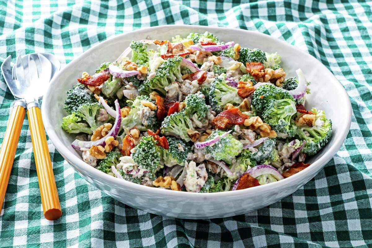 Creamy Broccoli and Bacon Salad.