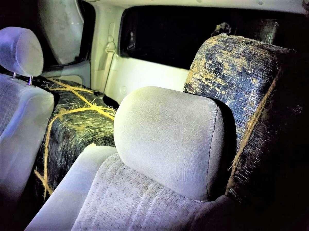 U.S. Border Patrol agents said a smuggler was transporting bundles of marijuana before crashing into a civilian vehicle.