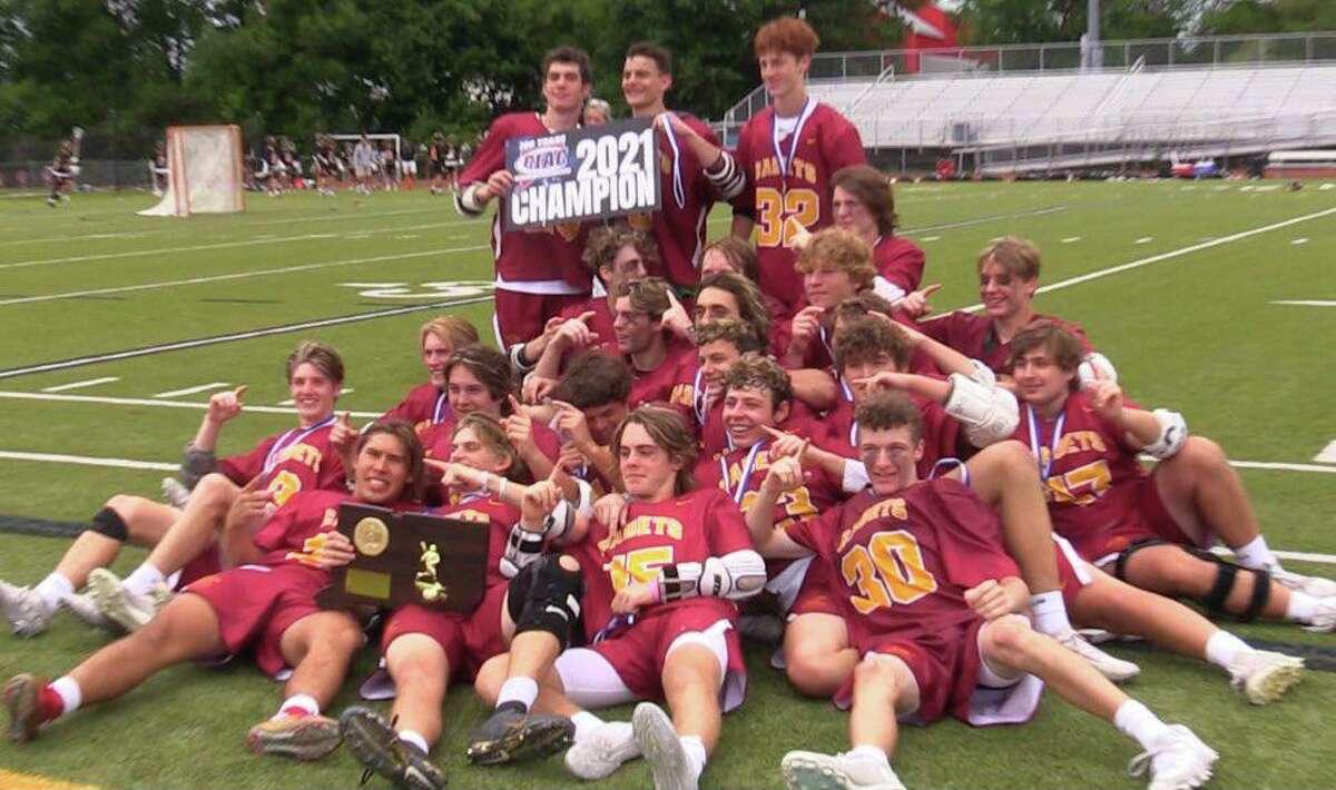 St. Joseph celebrates winning third straight Class S state title.