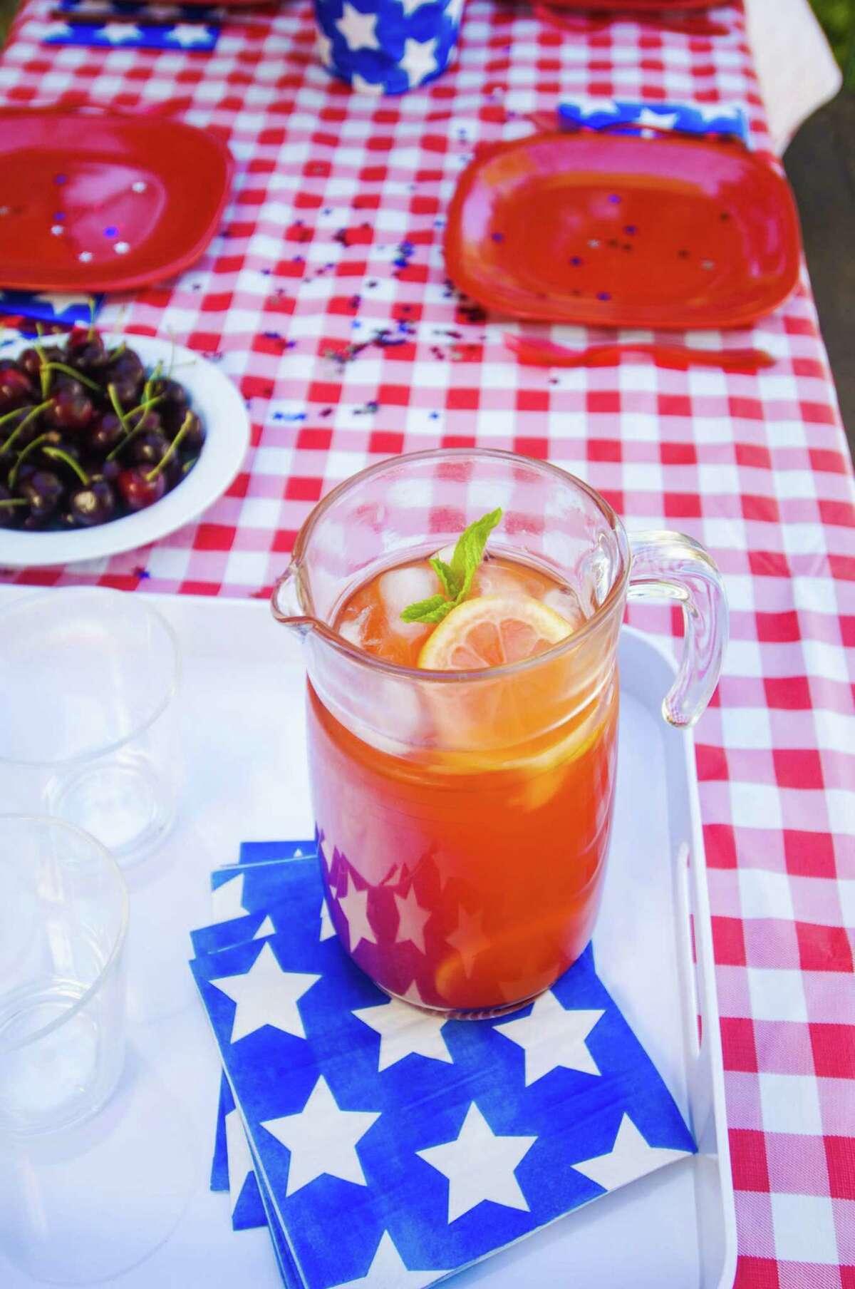 Blueberry lemonade is a refreshing summer drink.