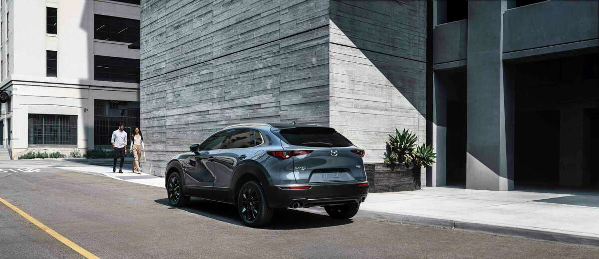 The Mazda CX-30 has all-wheel drive and a turbocharged 227-horsepower engine.