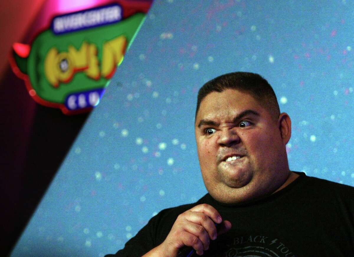 """Comedian Gabriel """"Fluffy"""" Iglesias, pictured during a 2007 gig at the Rivercenter Comedy Club, has a long-standing relationship with San Antonio."""