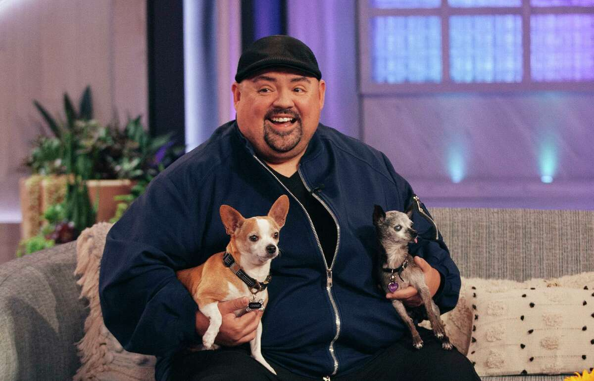 """Gabriel Iglesias, shown during an appearance on """"The Kelly Clarkson Show"""" in December, stuck close to home and his chihuahuas during the worst of the pandemic."""