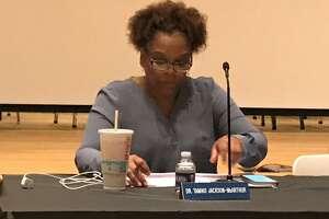 Board of Education member Tamiko Jackson-McArthur at a Nov. 25, 2019 meeting.