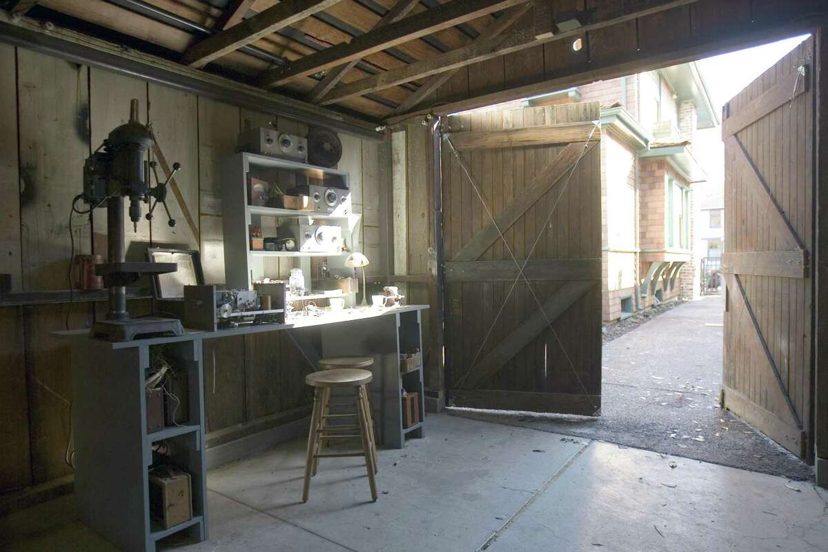 """The workbench in the garage where David Packard and Bill Hewlett started Hewlett-Packard in Palo Alto, Calif. The garage remains well preserved and is sometimes called the """"birthplace of Silicon Valley."""""""