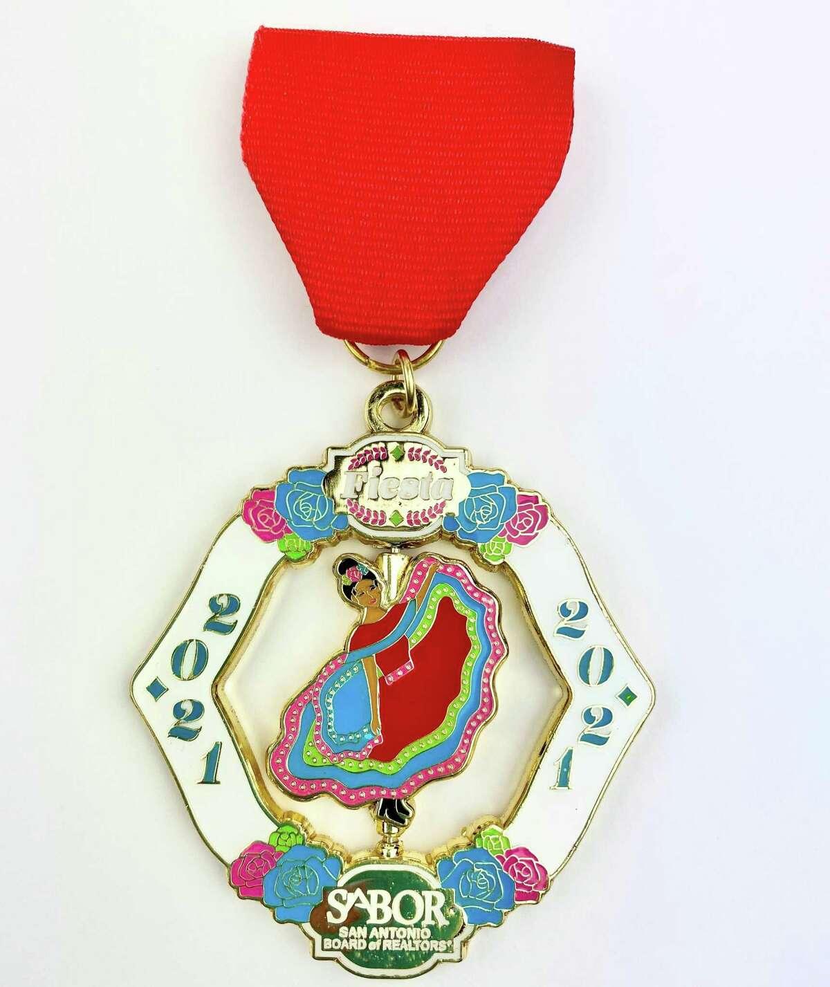 2nd place: Fiesta 2021 by SABOR, San Antonio Board of Realtors ($10 at member.sabor.com/product/2021-fiesta-medal)