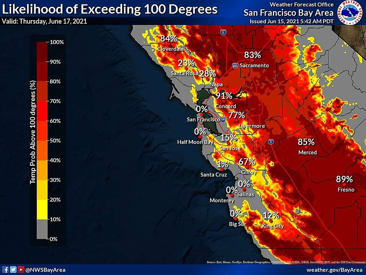 Widespread 90s to triple-digit temperatures will be likely across the inland areas through the end of the week.