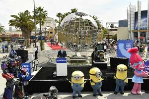 California Governor Gavin Newsom speaks at a press conference to discuss the state reopening at Universal Studios in Hollywood on June 15, 2021.