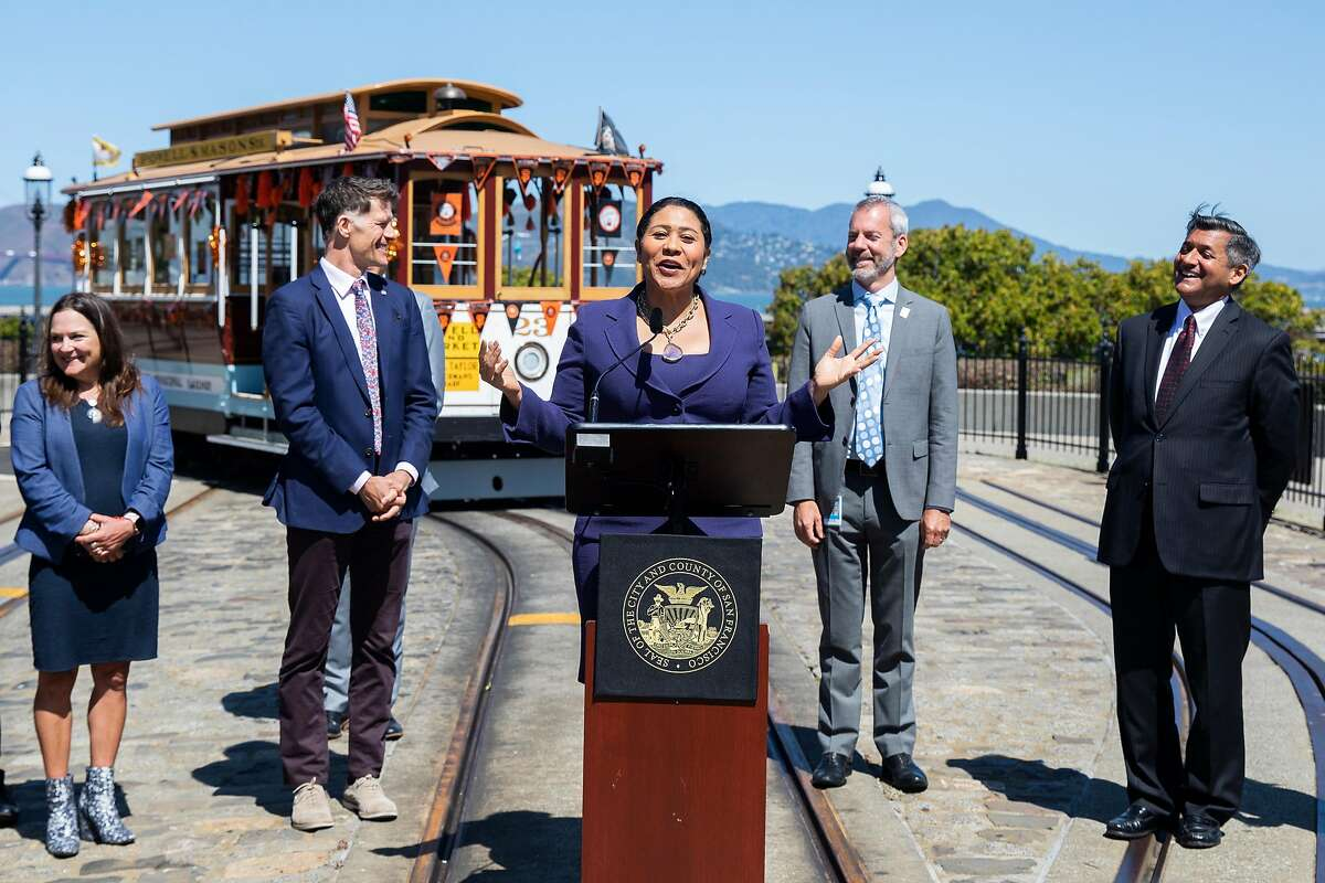 Mayor London Breed talks about the September return planned for the Powell-Hyde cable car line.