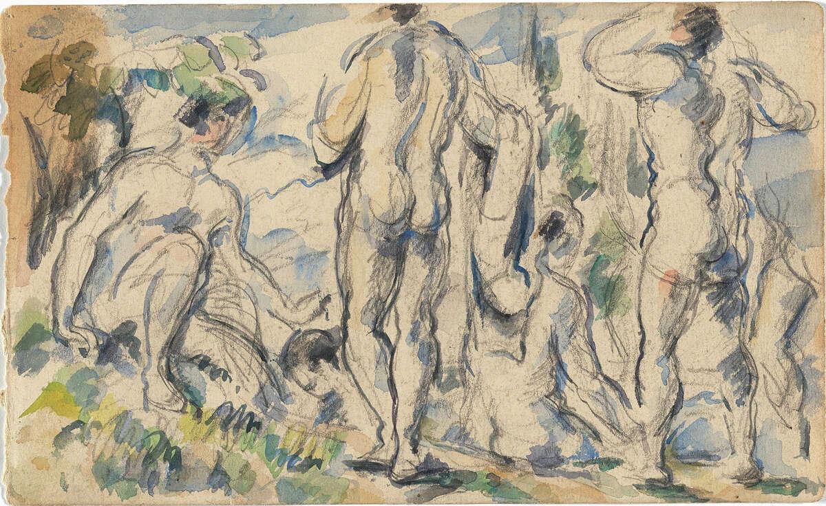"""Paul Cézanne's """"Bathers (Baigneurs)."""" 1885-90."""