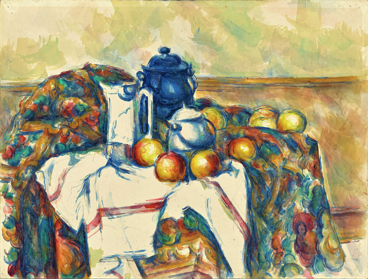 "Paul Cézanne's ""Still Life with Blue Pot."" 1900-06."