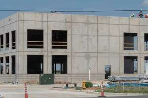 Construction continues on a new medical plaza 06/15/2021 at the corner of Briarwood and Holiday Hill Road. Tim Fischer/Reporter-Telegram